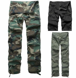 Womens-Ladies-Comfort-Casual-Cargo-Pants-Outdoor-Camping-Trekking-pants-LOW-RISE