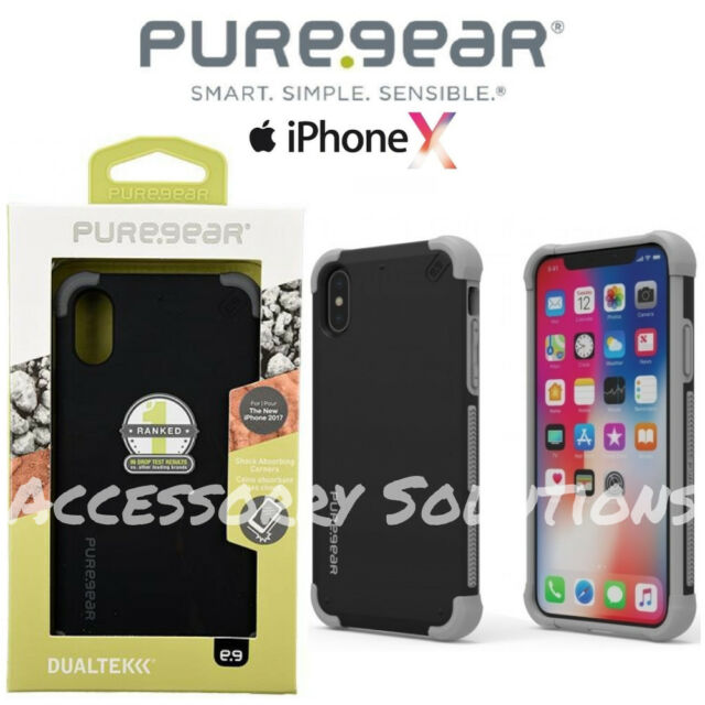 best authentic 47433 f4593 PureGear Apple iPhone X DualTek Extreme Impact Rugged Case Cover Black  62066PG