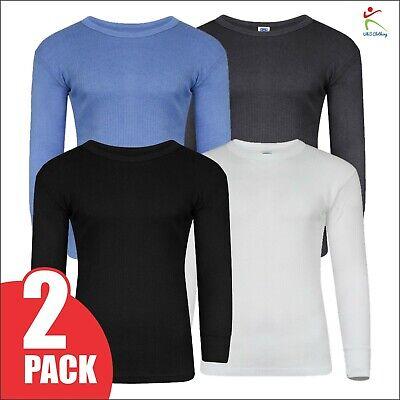 X Large Mens Thermal Underwear Long Sleeve Vest T-Shirt