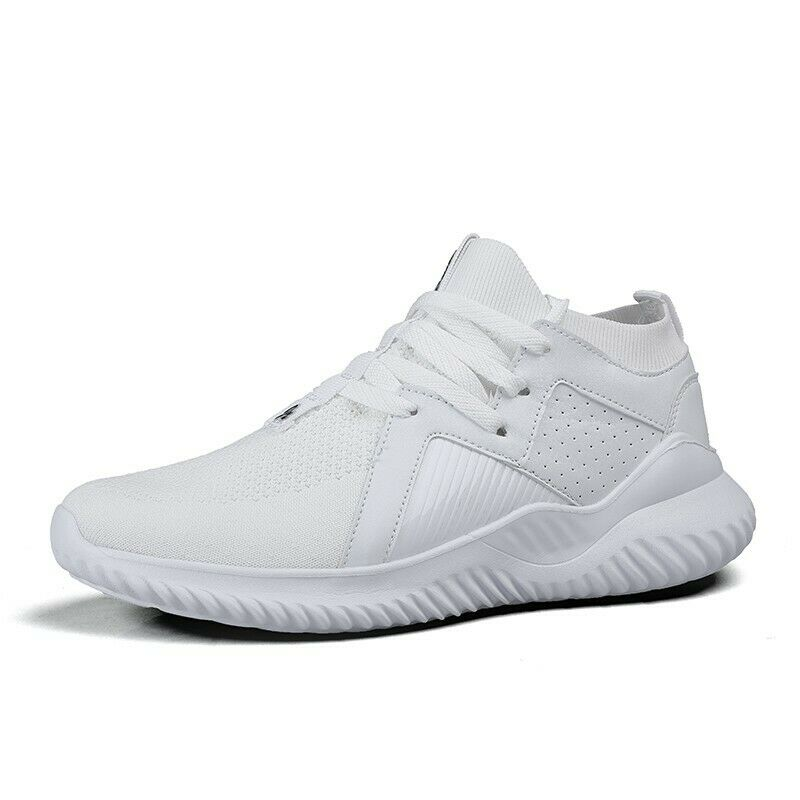 Fashion Sneakers Men Lace Up Outdoor Gym Trainer Flats Solid Casual Sports shoes