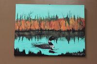 "Raymond Linklater ""Loan Echo Lake"" 2016 original painting Winnipeg Manitoba Preview"