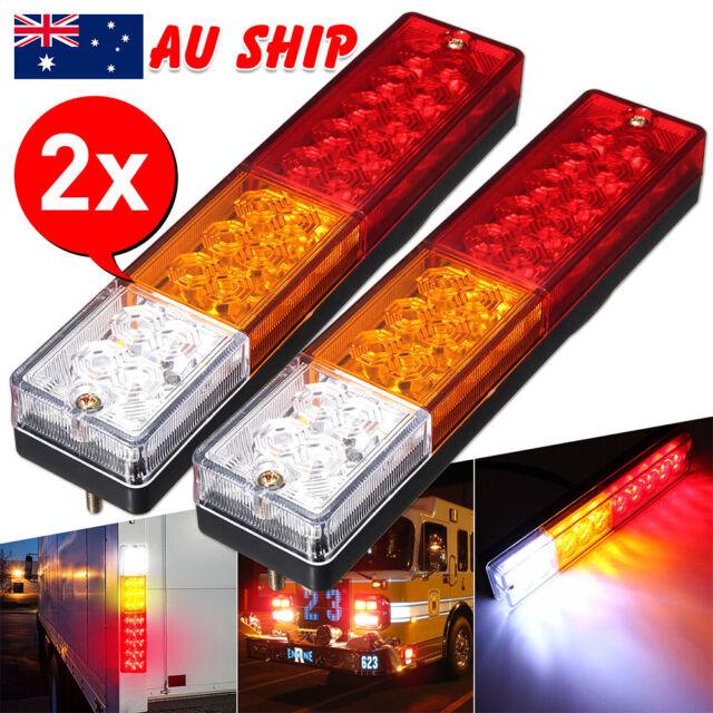 2X 20 LED Trailer Lights 12V Caravan UTE Truck Brake Reverse Tail Stop Indicator