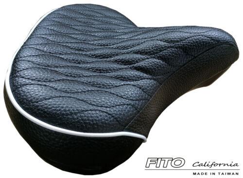 FITO BICYCLE SEAT SADDLE CRUISER COMFORT CITY ELECTRIC BIKE CAVIAR BLACK//WHITE