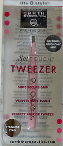 NEW-EARTH-THERAPEUTICS-SOFTOUCH-ERGONOMIC-STAINLESS-STEEL-PINK-TWEEZER-SALE