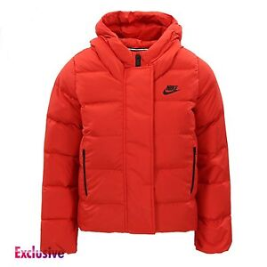 Nike Girls NSW 550 Fill Down Jacket Padded Coat - 816376-657 - Red ... adc106d75