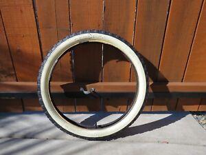 Carlisle Knobby Whitewall Tire for Schwinn Stingray S2 - Bead Cracking - Slice