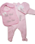 Personalized Embroidered Baby Bib Pajamas and Beanie Gift Set Keepsake