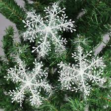 30 Stück Schneeflocke Weihnachten Weihnachtsdekoration Christbaumschmuck weiße