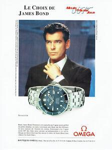 Publicité Advertising 108  2002    montre Omega Seamaster James Bond  P. Brosnan