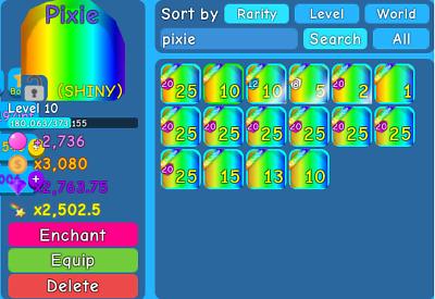 Roblox Bubble Gum Simulator Pixie Roblox Bubble Gum Simulator Shiny Pixie Legendary Pet Ebay