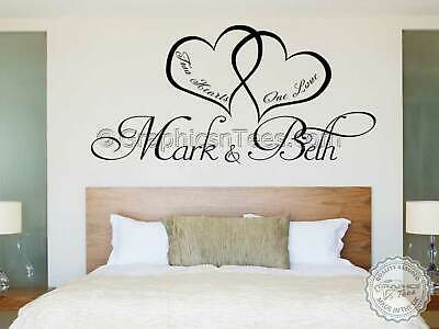 Always Forever Romantic Bedroom Wall Sticker Love Quote Wall Decor Decal with Swans