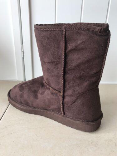 Women/'s Vegan Fur Ankle  Boots