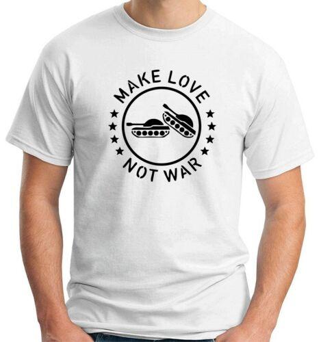 MAGLIETTA FATE L/'AMORE NON LA GUERRA MAKE LOVE NOT WAR DIVERTENTE TM0501 T-SHIRT