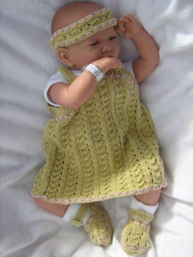 DUNGAREES//DRESS DUO Honeydropdesigns Reborn//Baby PAPER KNITTING PATTERN