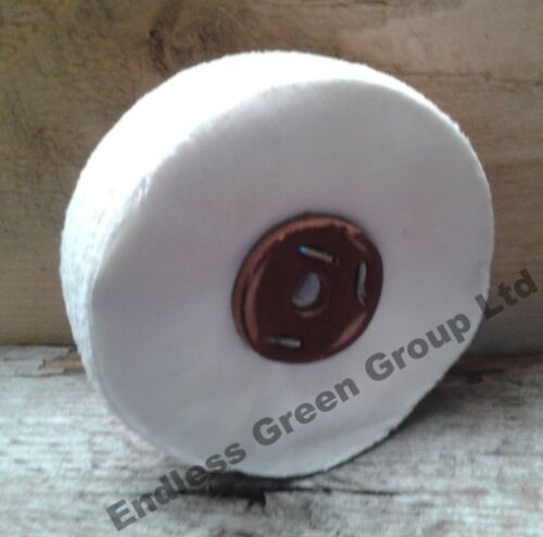 Soft Cotton Polishing Wheel 6 x 1 inch 150 x 25mm Loose Leaf buffing mop L150//80