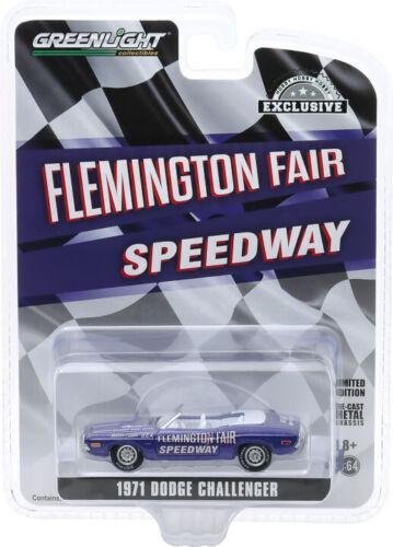 Greenlight 1//64 1971 Dodge Challenger Flemington Fair Speedway Pace Car 30146