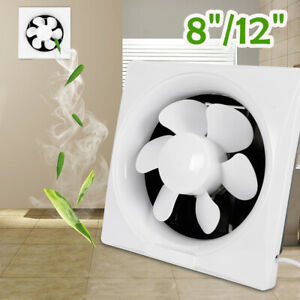 8 12 Inch Wall Mount Exhaust Fan Bathroom Kitchen Window