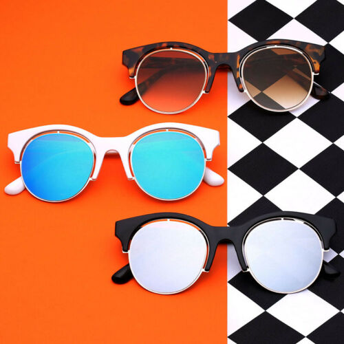 Round Circle Glasses Cat Eye Women/'s Teen Girls Round Retro Vintage Sunglasses