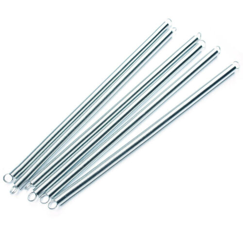 300pcs 0.9*8*300mm Expansion Extension Tension Spring Springs Zinc-plated Steel