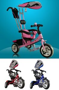 Kids Child Trike Tricycle 3 Wheel 4 In 1 Bike With Handle