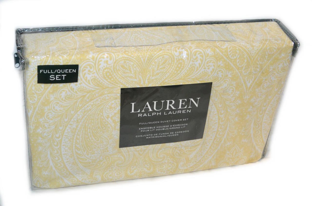 Ralph Lauren Sagan Türkisch Gemustert Gelb Weiß 3p   Queen-Größe Bezug Set Neu | Online einkaufen