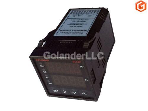 25A SSR K Thermocouple Dual Display Digital PID F//C Temperature Controller