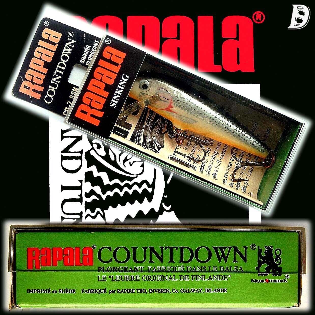 Vintage Rapala Countdown 7cm SSH Neu in Box Irland wurde eingestellt