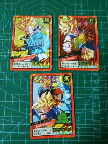 DRAGON BALL Z 30TH CARDDASS SUPER BATTLE POWER LEVEL PART 18 CARDS 3 PRISMS