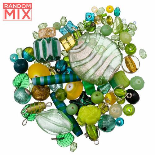 Vidrio Acrílico Granos del Metal mezcla verdes y amarillos 100g