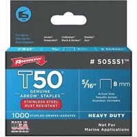 Arrow T50 5/16 Stainless Steel Staples - T50/t55/ht-50a