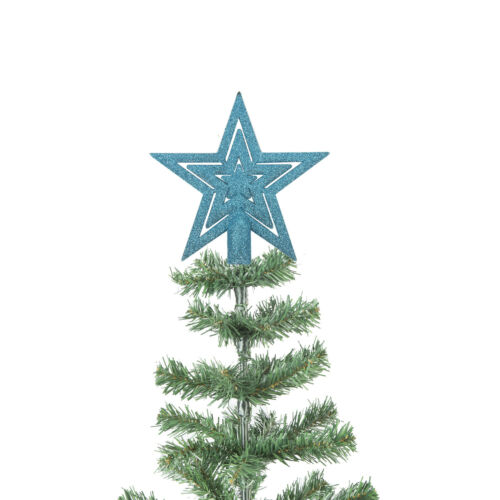 Various Colours 20cm Glitter Star Christmas Tree Topper Decoration Ornament