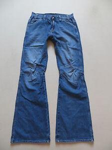 G-Star-COMWOOD-Schlag-Jeans-Hose-W-32-L-34-Vintage-wash-Denim-KULT-Modell