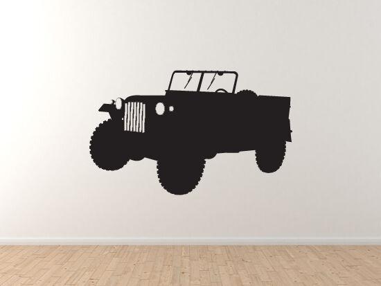 World War Two  4 - Troop Transport Light Truck Army 4x4 - Vinyl Wall Decal