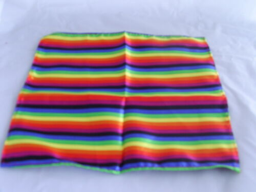 """Polyester Rainbow Hankie-9/"""" x 9/""""=23 x 23cm/>Matching Tie /& Cummerbund R Available"""