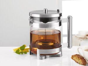 Design-Teekanne-Teebereiter-mit-grossem-Teesieb-aus-mattiertem-Edelstahl-NEU