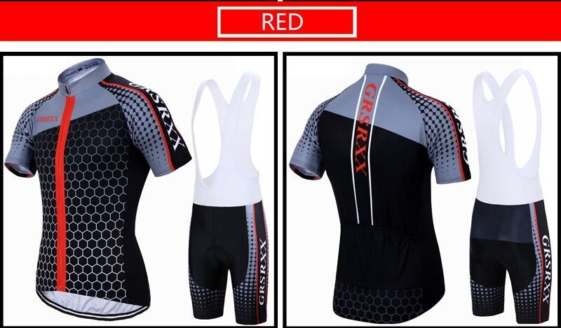 GRSRXX Herren Fahrradtrikot Set, Rennrad jersey, atmungsaktiv