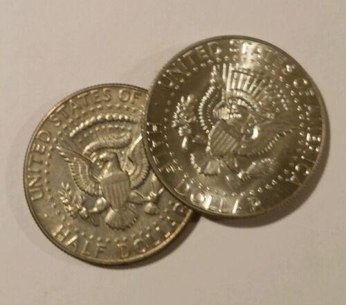 2 40/% SILVER Kennedy Half Dollar 1965-69 random  Circulated FREE SHIPPING
