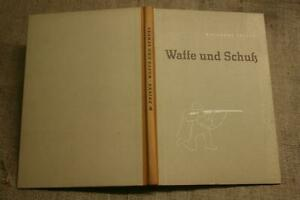 Fachbuch-Waffenkunde-Schiesskunde-Jaeger-Sportschuetzen-Jagdgewehr-DDR-1956