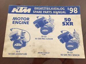 ktm 39 98 motor engine 50 sxr spare parts manual 1998 ebay. Black Bedroom Furniture Sets. Home Design Ideas
