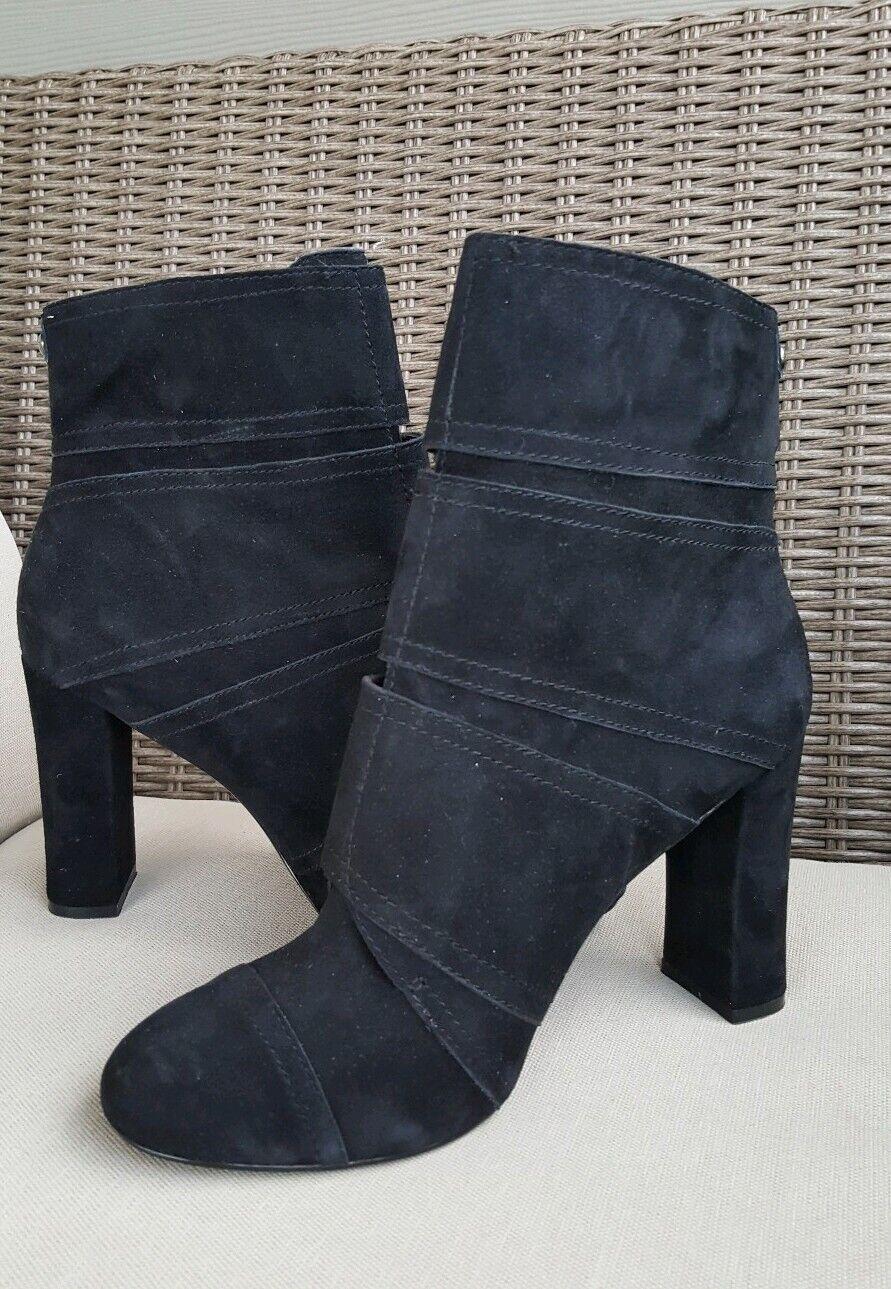 Excellent  Women's NICOLE MILLER Artelier ANDI SUEDE Leather BOOTS sz 10  295