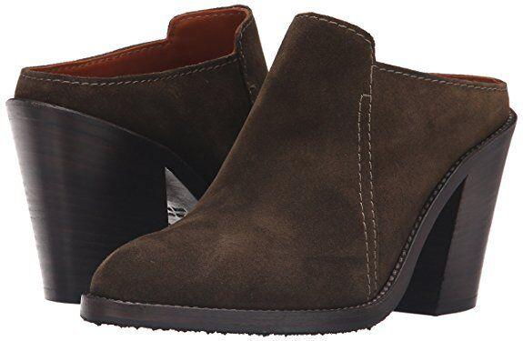 marca  395 Aquatalia Donna  Libby Libby Libby Brush Oil Suede Mule Heel scarpe 7.5 NEW IN BOX  buon prezzo