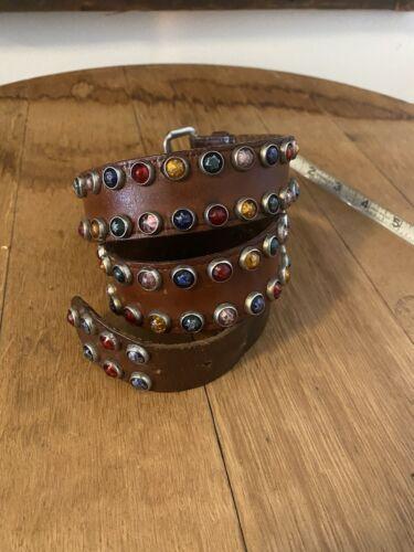 Vtg 1930s 1940s Jeweled Studded Belt