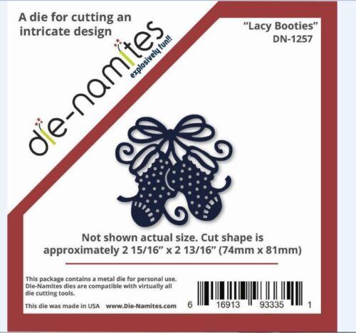 Die-Namites Intricate Design Single Cutting Die ~ LACY BOOTIES  Baby ~ DN-1257