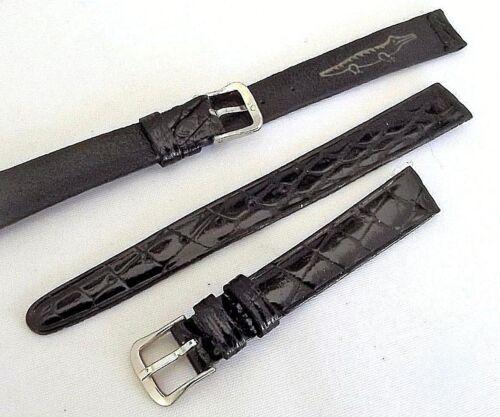 cinturino vero coccodrillo lucido orologi lusso lady ansa 12 mm fibbia acciaio