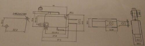 10 Pz microswitch LEVA lunga con rotella pulsante finecorsa MICRO SWITCH 16A