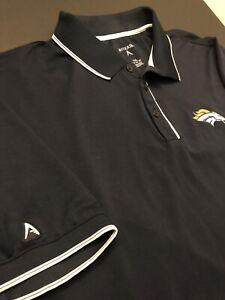 Antigua NFL Denver Broncos Football Button Polo Shirt Men s Size 2XL ... c46435e88