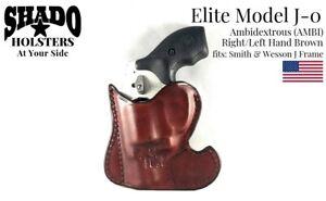 SHADO-Leather-Holster-USA-Elite-Model-J-0-AMBI-Pocket-Holster-Brown-S-amp-W-J-Frame