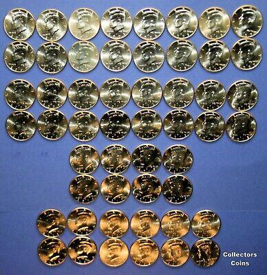 12 2012 2013 2014 2015 2016 2017 P /& D BU  KENNEDY HALFS Coins Mint Roll