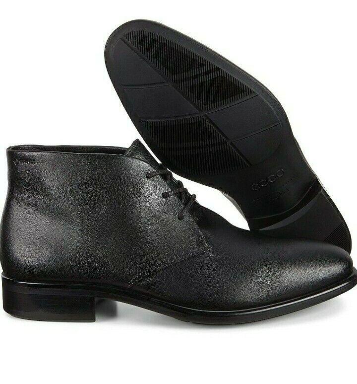 Ecco Goretex Black Leather Citytray EU 45 UK 10.5 - 11