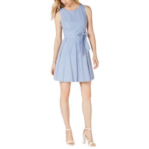 Pappagallo Womens Striped Sleeveless Knee-Length Casual Dress BHFO 9230